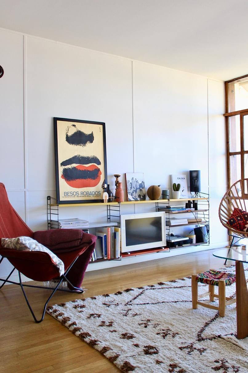 Salon Le Corbusier avec affiche