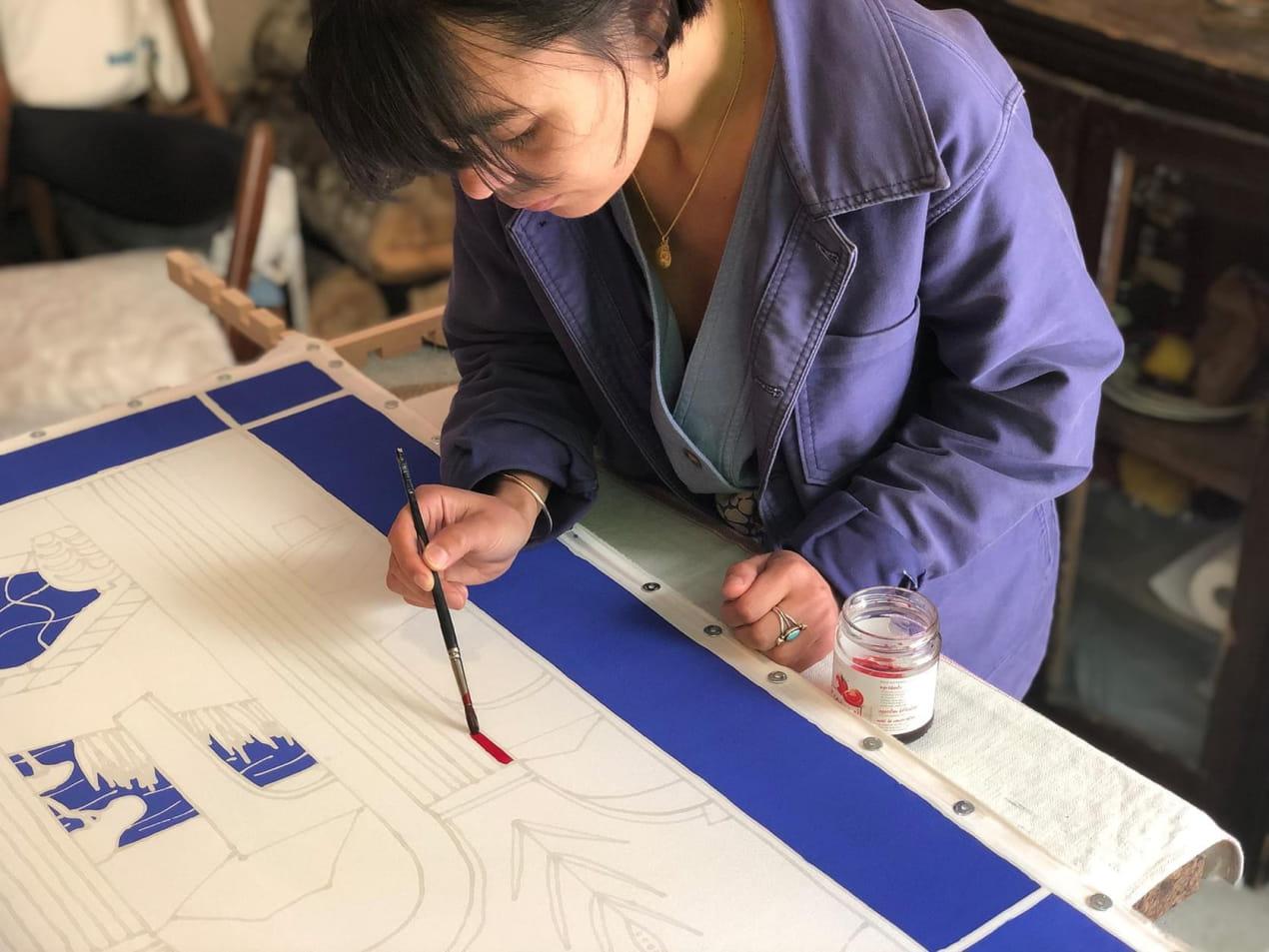 Marion Vallerin in her workshop