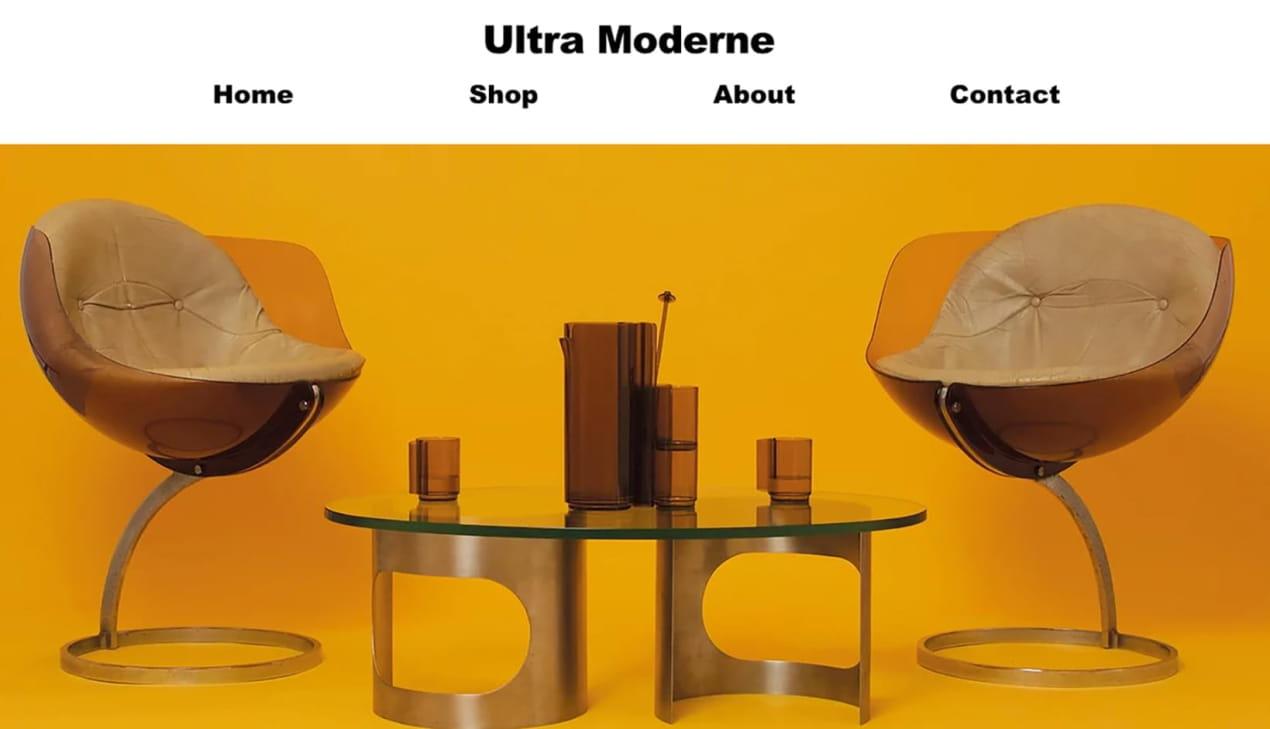 Site web d'ultra moderne