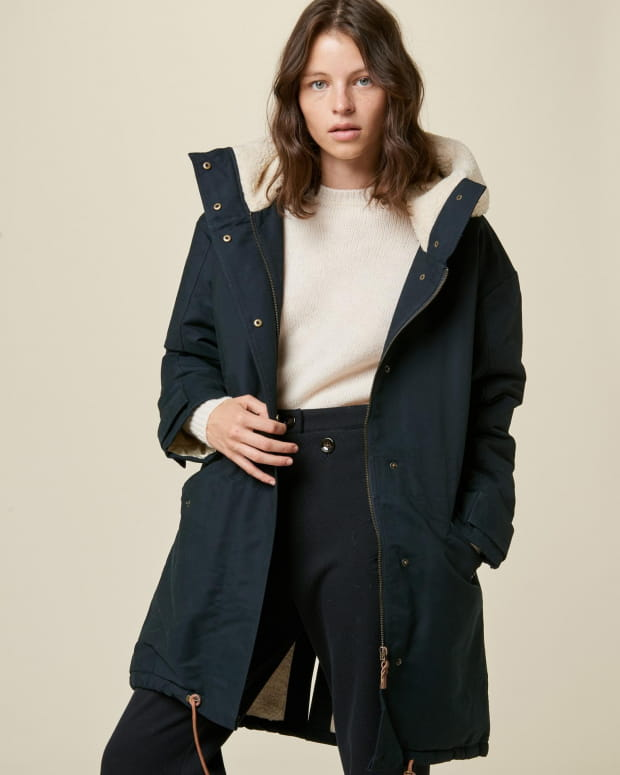 Wood girl - Navy