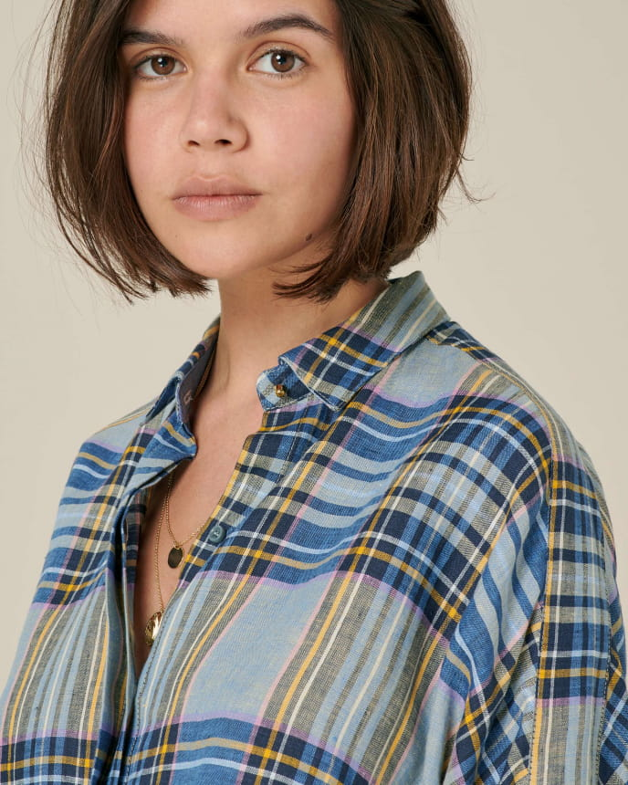 Delima - Denim Checks