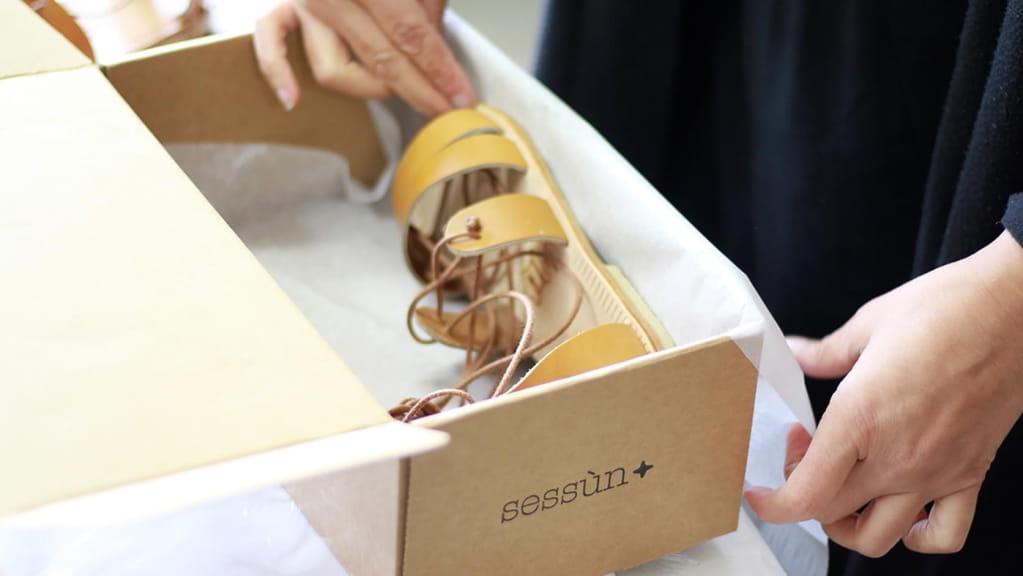Emballage sandale