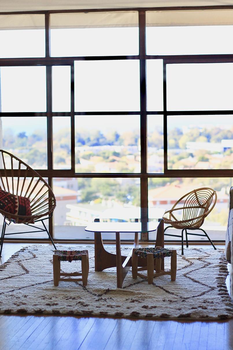 Salon Le Corbusier vue extérieur