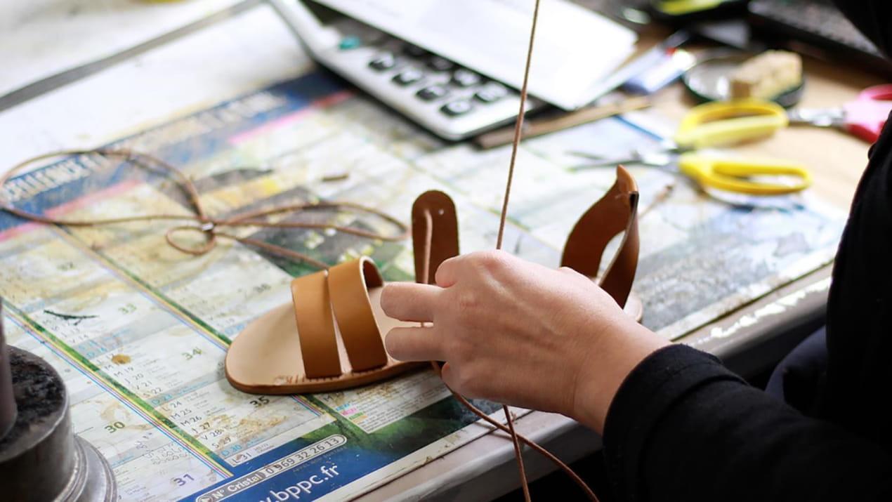 Finition sandale