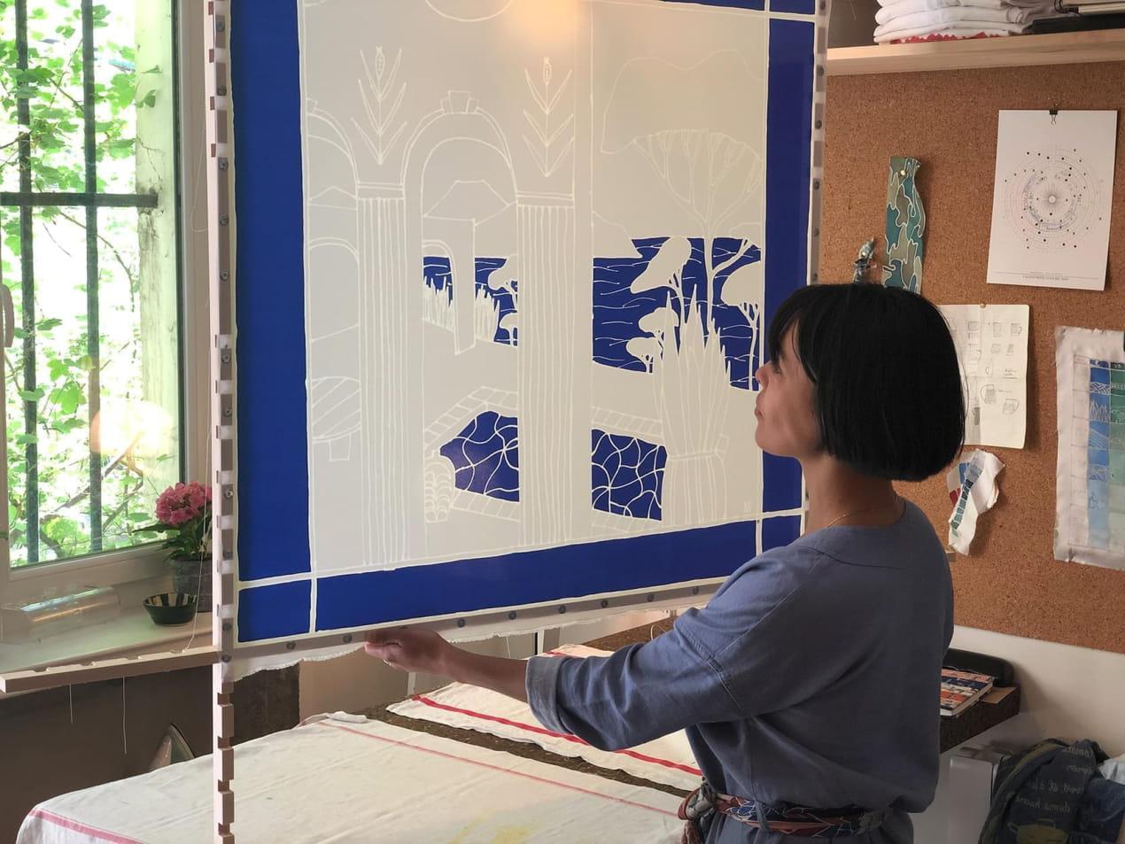 Marion Vallerin dans son atelier